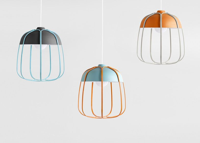 Tommaso Caldera encloses Tull Lamp in a wire cage | Lights, Light ...