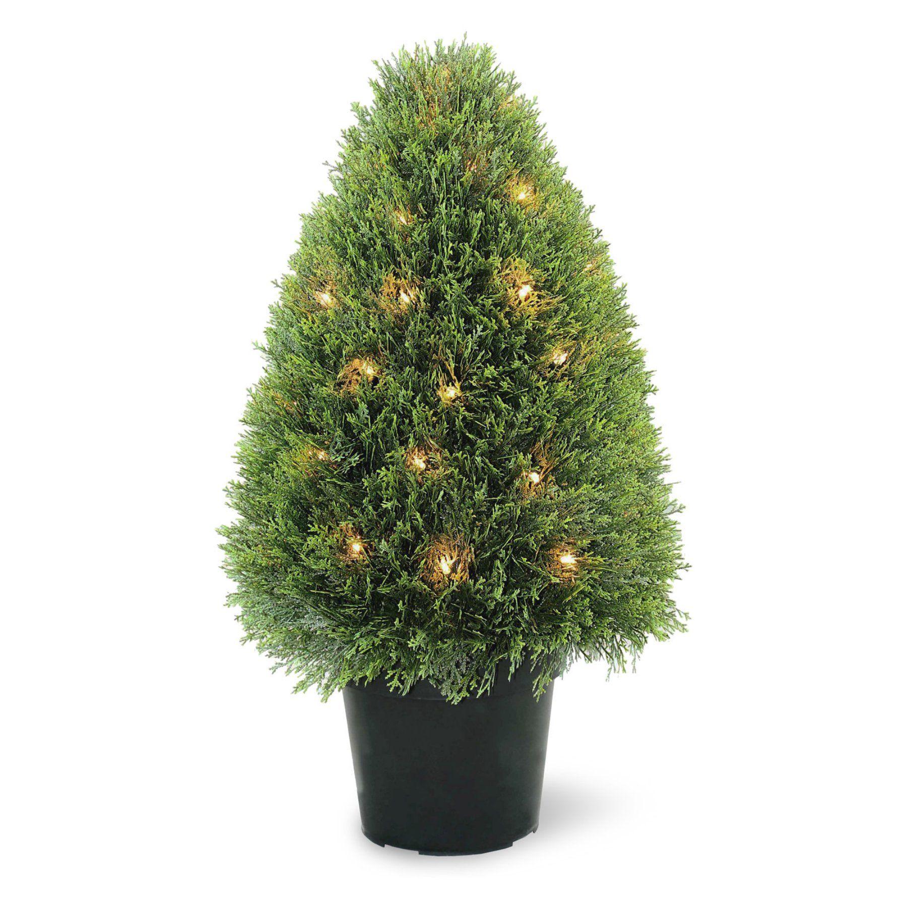 pre lit topiary tree