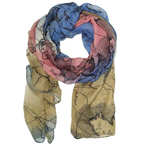 Bucasi world map global travel motif scarf in blue bucasi httpwww bucasi world map global travel motif scarf in blue bucasi http gumiabroncs Image collections