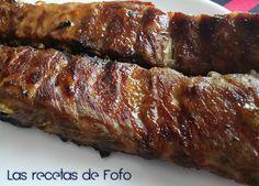 Ingredientes: Unas tiras de costillas de cerdo Mostaza Miel Pimienta Sal Aceite de oliva Preparación: Ponemos el horn...