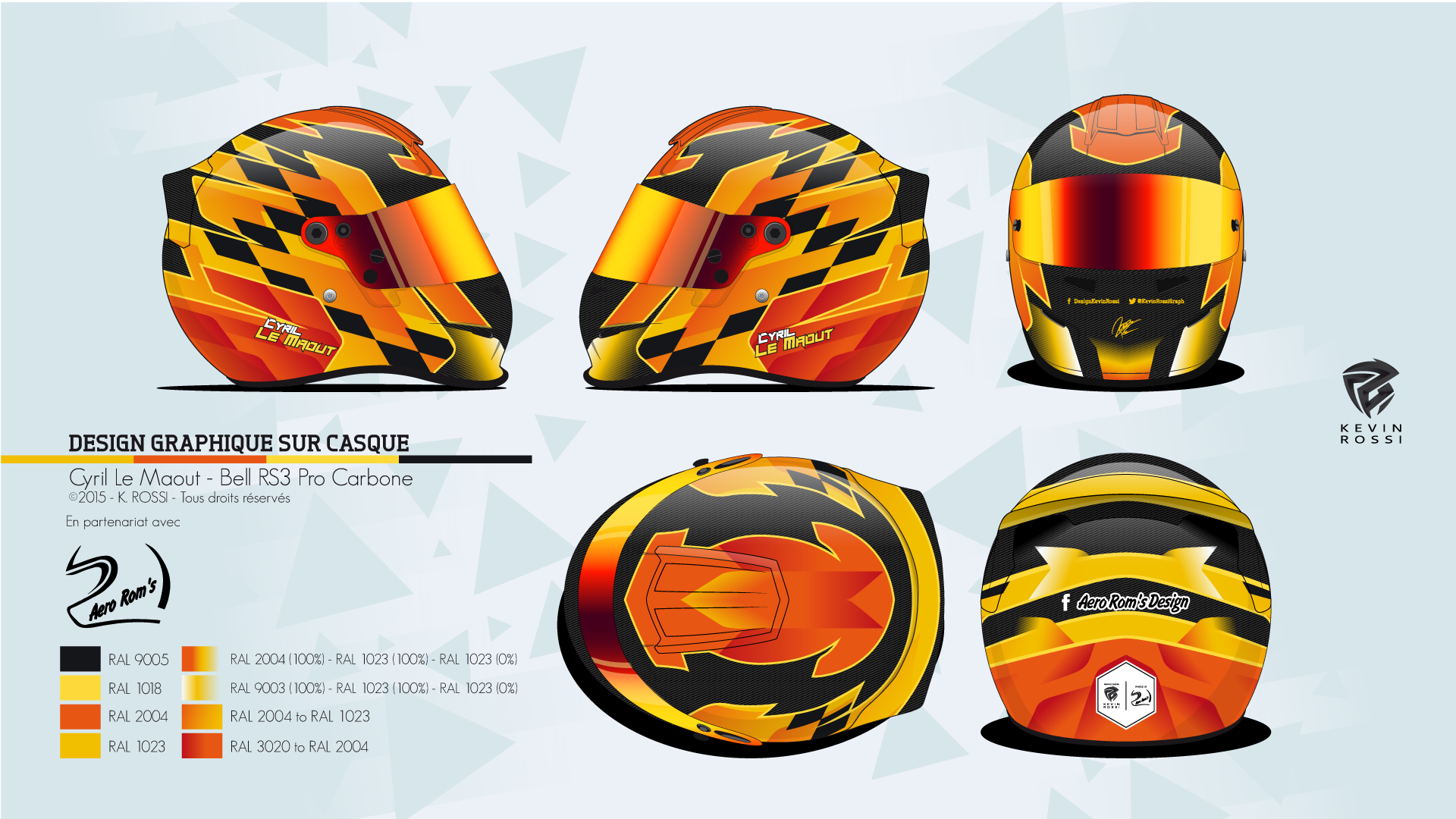 c6faa6ae Helmet design project for Cyril Le Maout, on Bell RS3 Pro. | Helmets ...