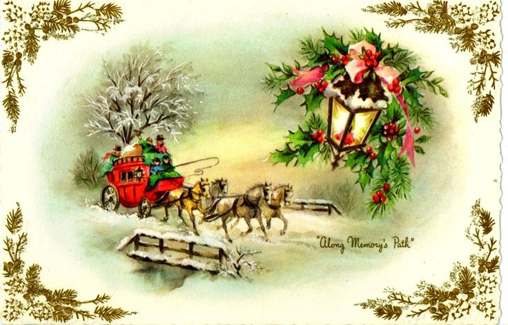 Eight Vintage Christmas Cards from late 1960s and early 1970s Featuri…