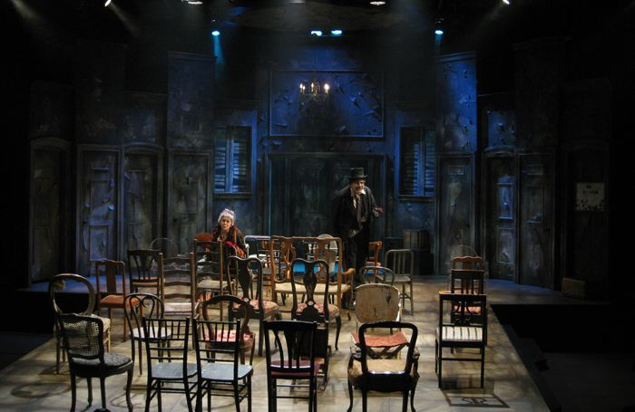 The Chairs. A Noise Within. Scenic design by Stephen Gifford.