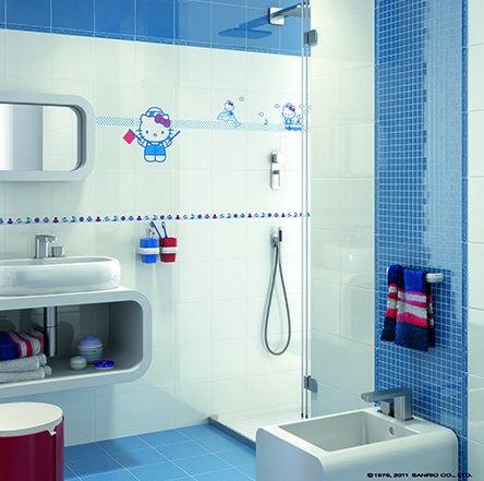 Hello Kitty Bathroom Tiles Simple Decorating Design