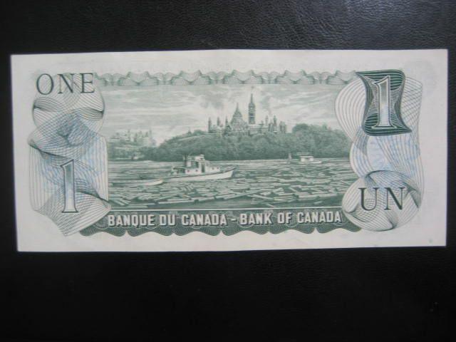 OBVERSE OF 1973 CANADA ONE DOLLAR BILL