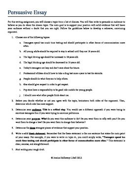 Essay Examples For High School  High School And College Essay also Essay Paper Writing Persuasive Essay Complete Packet Guidelines Planning  Example Of A College Essay Paper