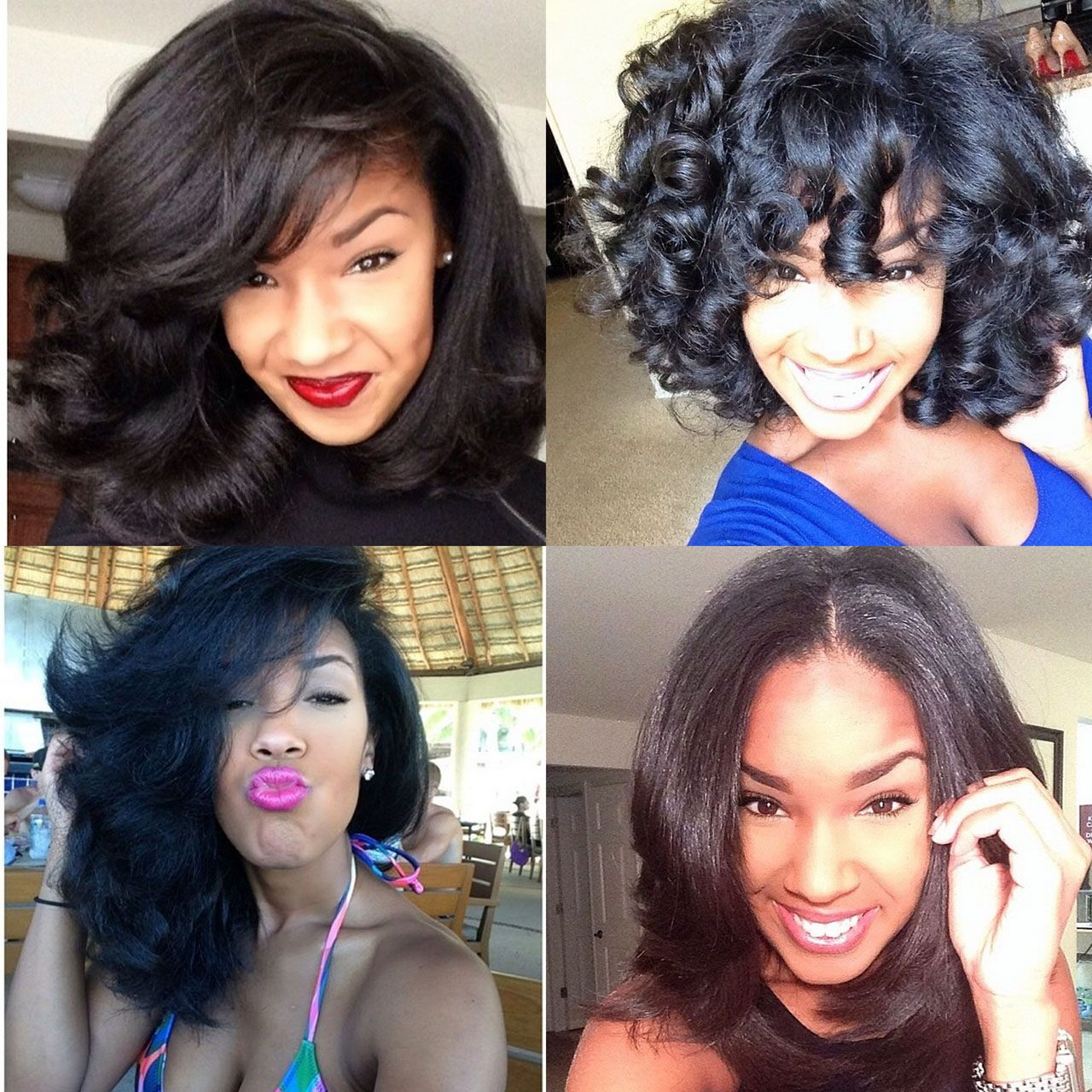 4 Instagram Naturals Who Use Heat And Maintain Healthy Hair Natural Hair Styles Hair Styles Long Hair Styles