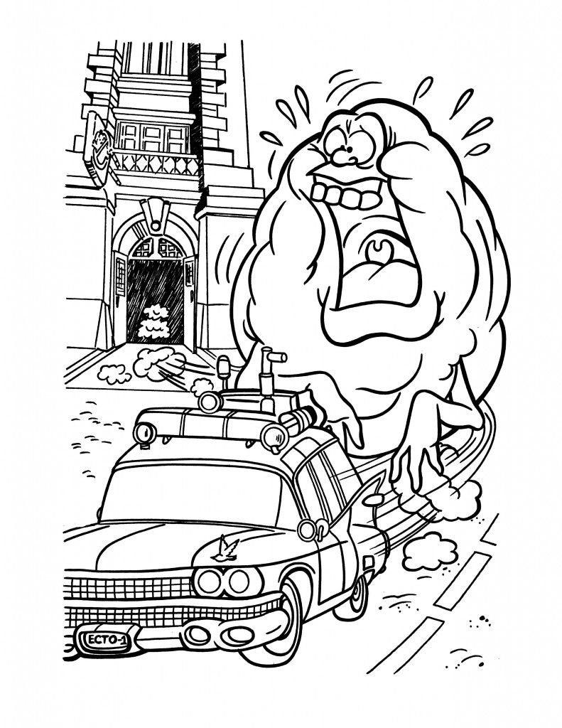 Free Printable Ghostbusters Coloring Pages For Kids Coloring