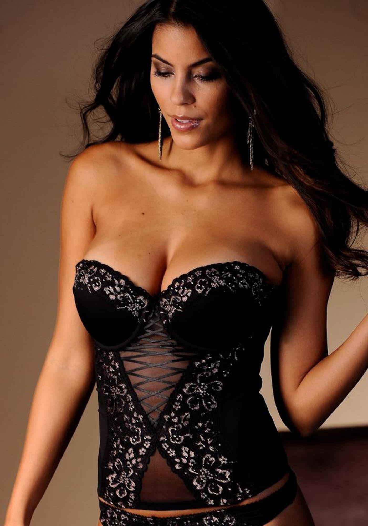 LASCANA Glamouröse Corsage Damen, Schwarz, Größe 85 AA #corsages