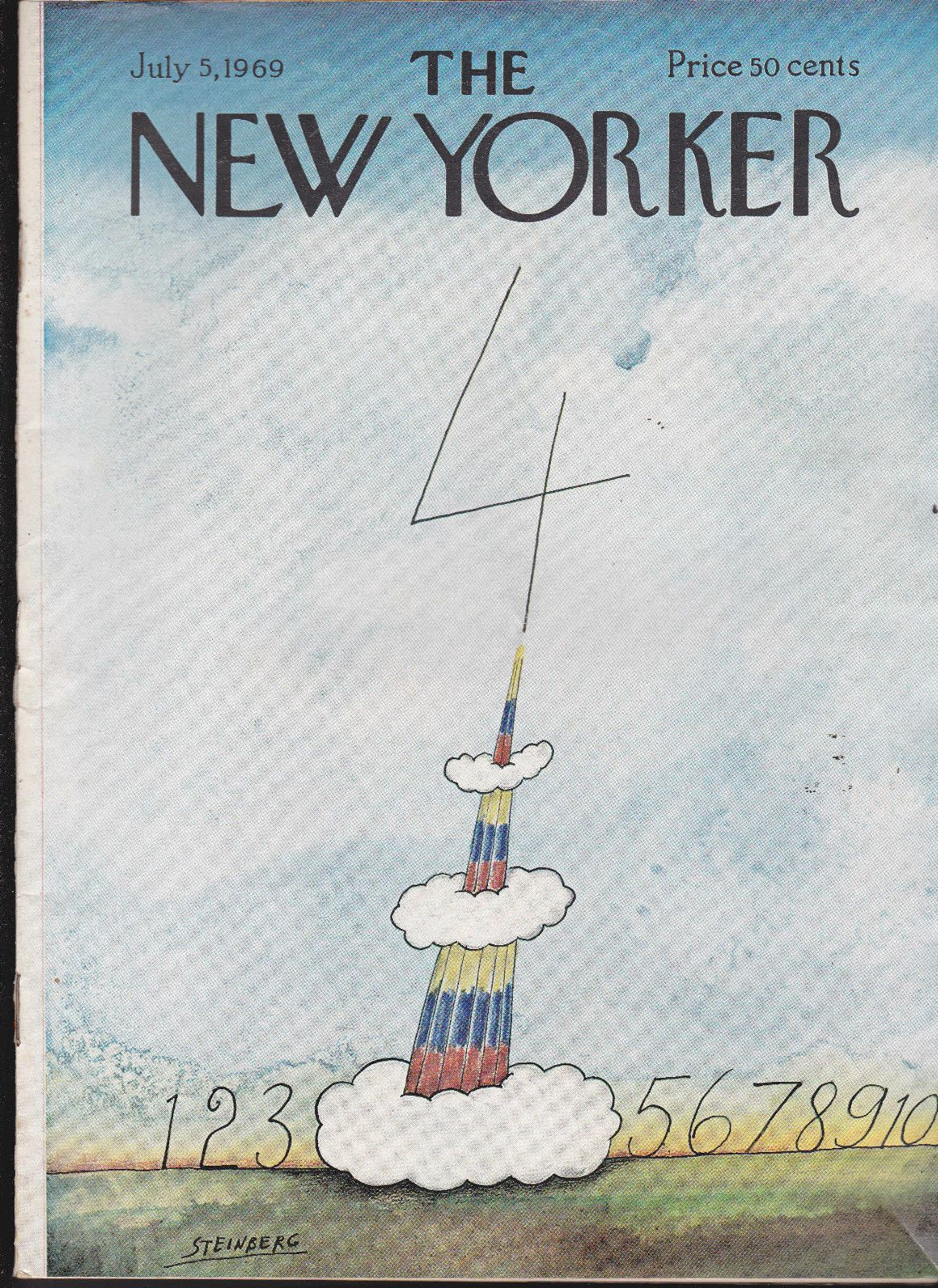 The new yorker july cover artwork by saul steinberg