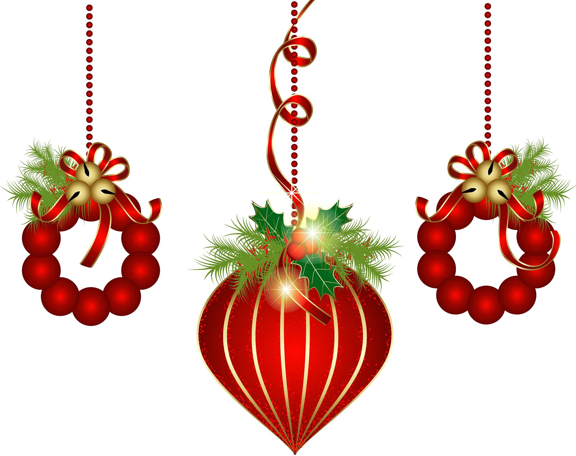 Hanging Christmas ornaments   Clip Art Holiday Scrapbook ...