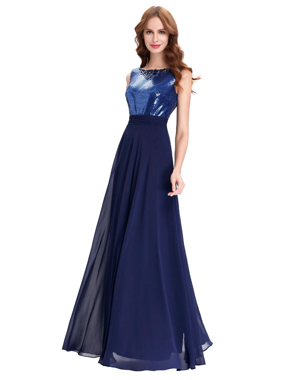 Long navy blue wedding party dress wedding party dresses navy long navy blue wedding party dress ombrellifo Image collections