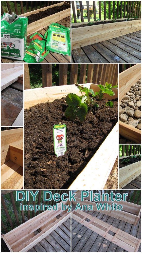 deck planter inspired by @Ana White cedar raised garden bed plans