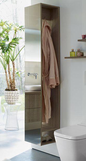 Raumteiler Bad praktischer stauraum fürs bad ganzkörperspiegel und garderobe als