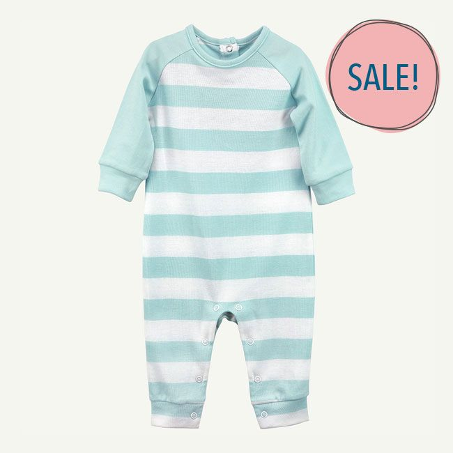 64668677c Baby Blue Stripe Unionsuit - Oliver and Rain
