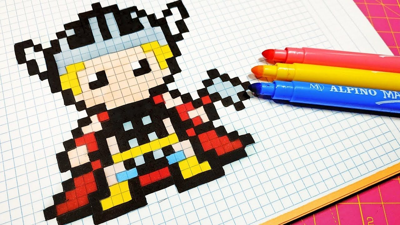 Handmade Pixel Art How To Draw Thor Pixelart Graph