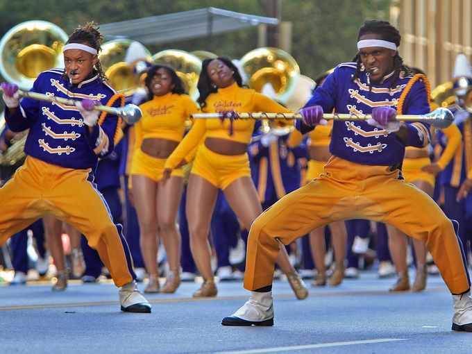 Alcorn State University Marching Band Members Of The Alcorn State University Marching Band Dance Do Hbcu Historically Black Colleges Jackson State University