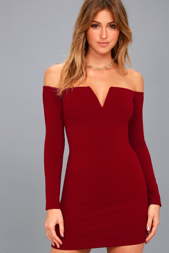 42+ Red off the shoulder dress ideas