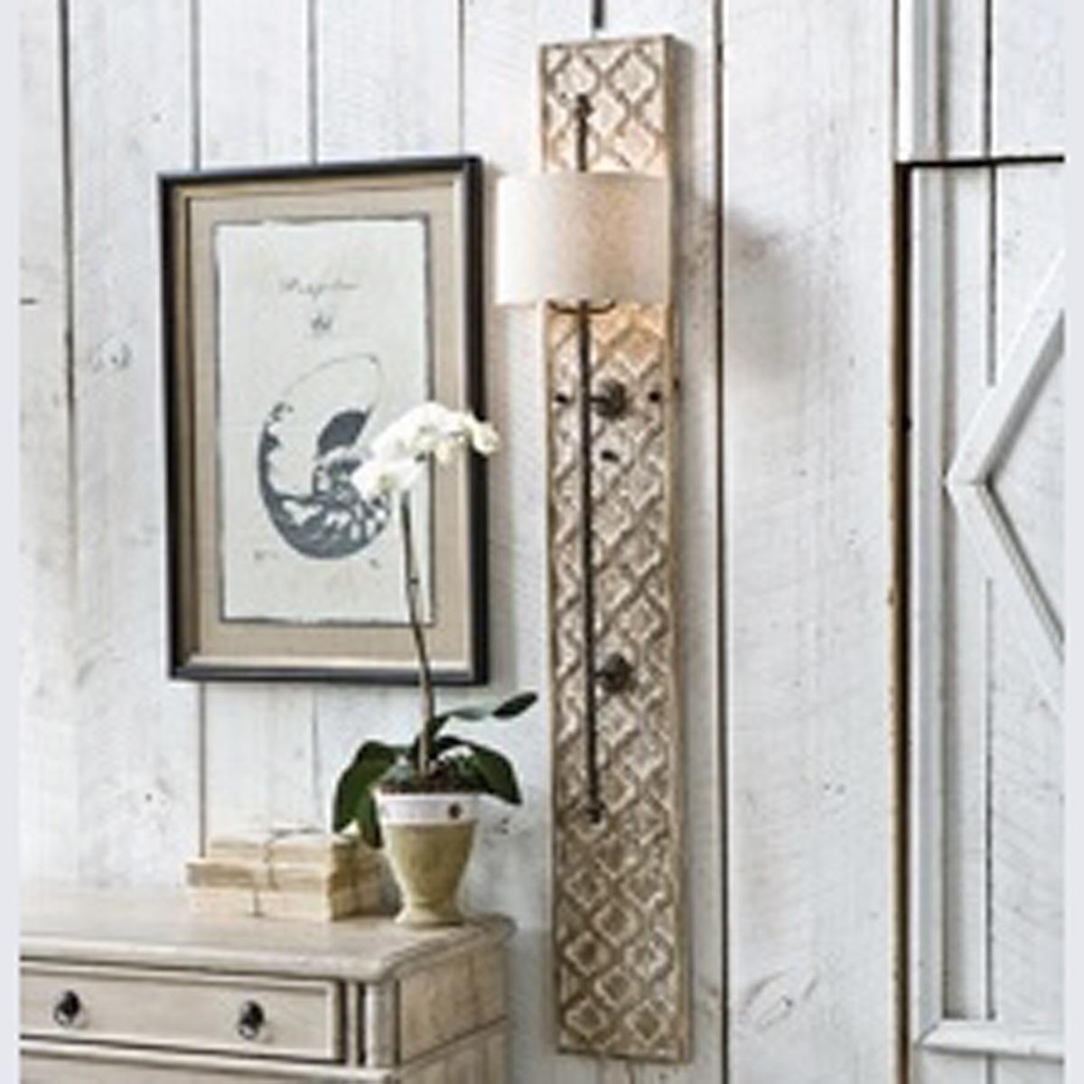 Quatrefoil Wooden Panel Sconce Sconces Beach House Furniture
