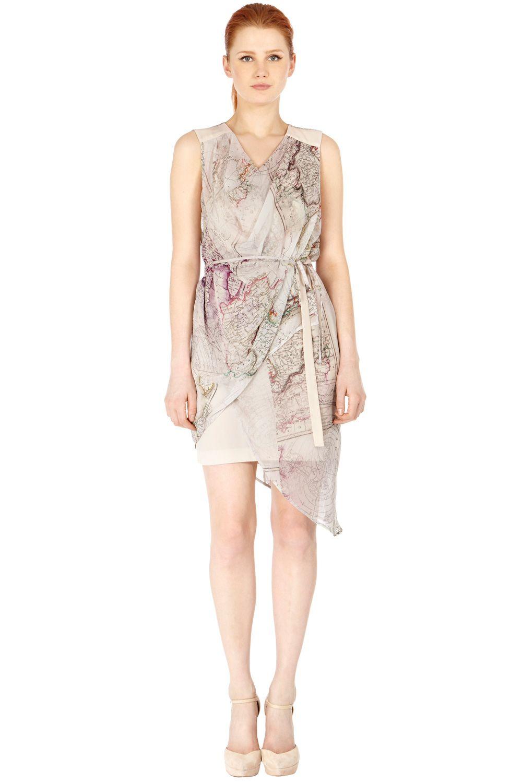 Warehouse MAP PRINT WRAP DRESS | fashion (&) maps | Pinterest