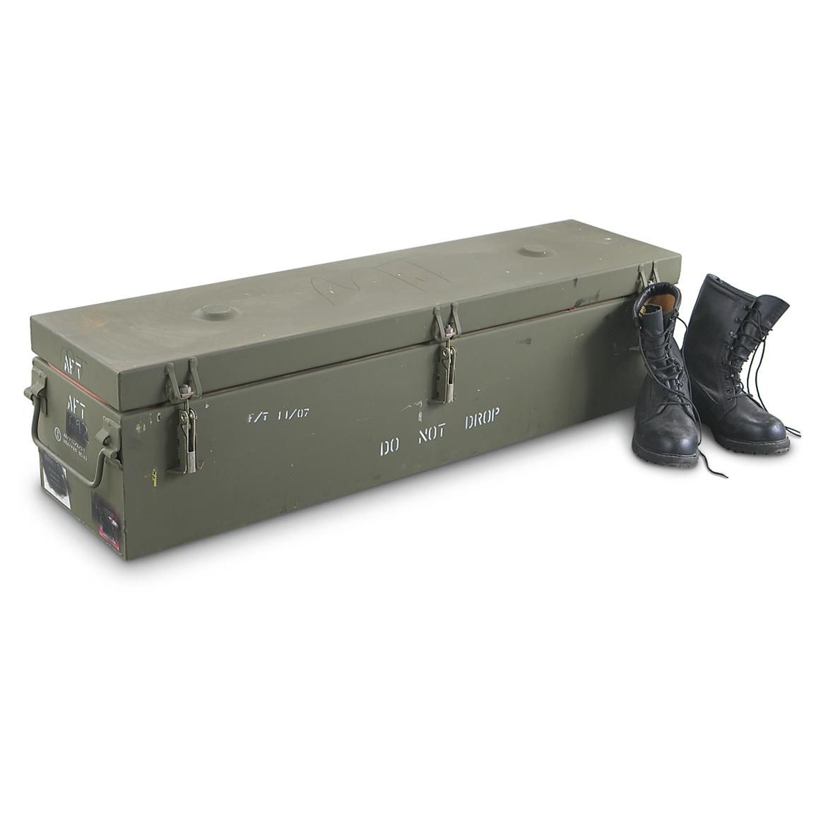 New U S Military Surplus Metal Storage Container 6 912 Cu In Capacity Rugged Air Water