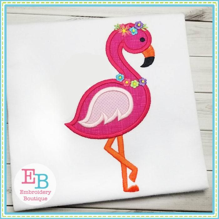 Flamingo 2 Applique Embroideryboutiquesewembroidable Pinterest