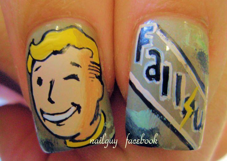 Fallout Nails Funky Nail Art