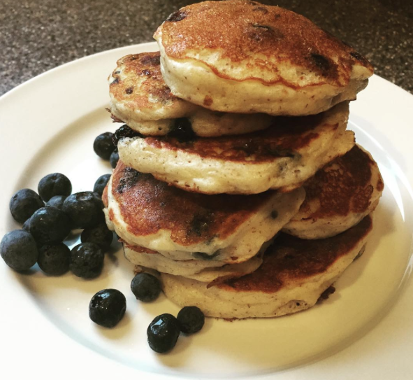 Gluten Free Blueberry Cottage Cheese Pancakes. Higher Protein, Blueberry  Filled And Delicious, These