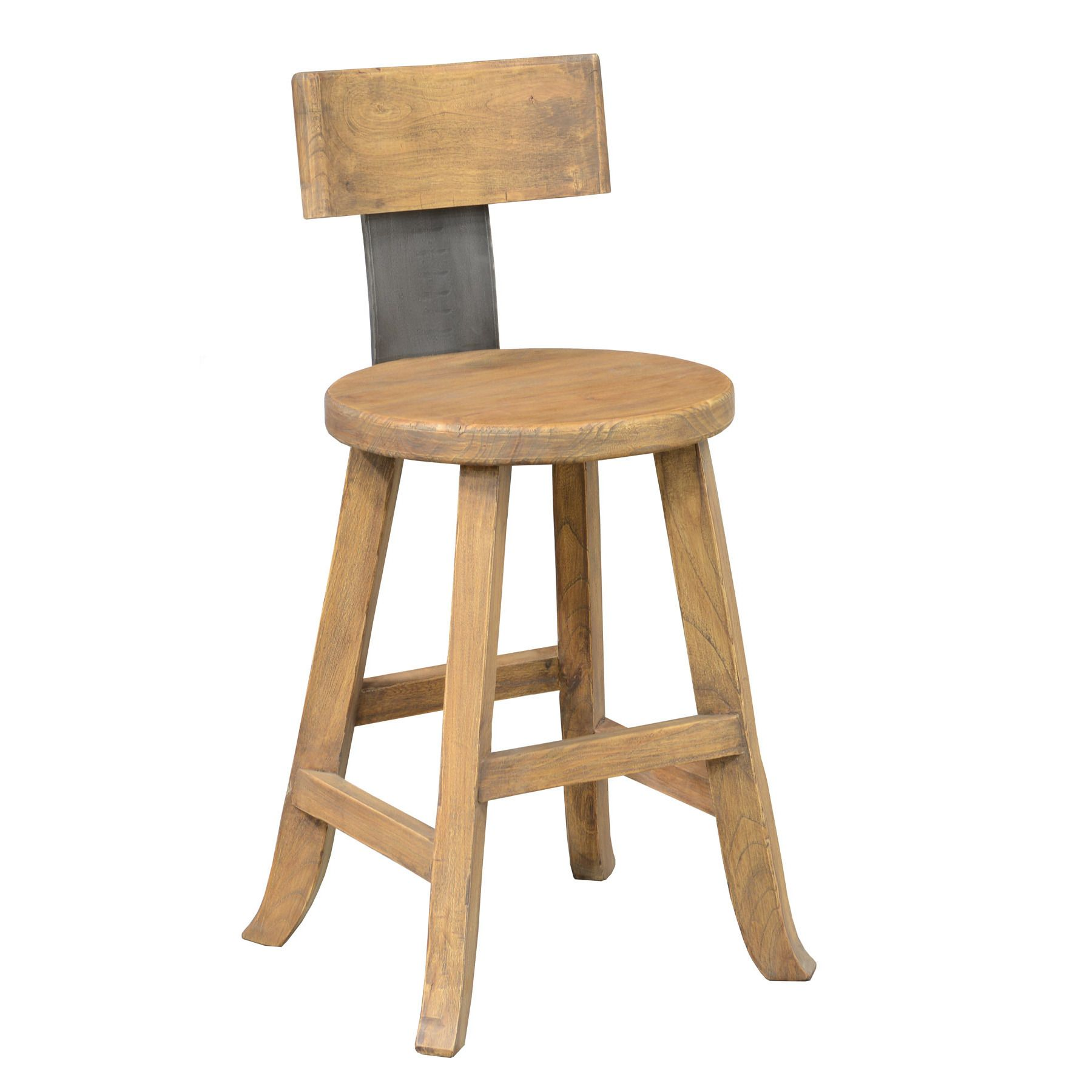 Rustic Stools Kitchens Kosas Home Foust Reclaimed Pine 24 Inch Counter Stool