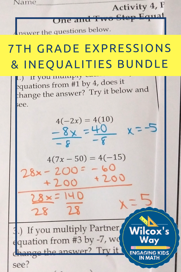 If You Are Teaching One And Two Step Equations Inequalities And Combining Like Terms And Distributiv Free Math Lessons Graphing Inequalities Math Expressions