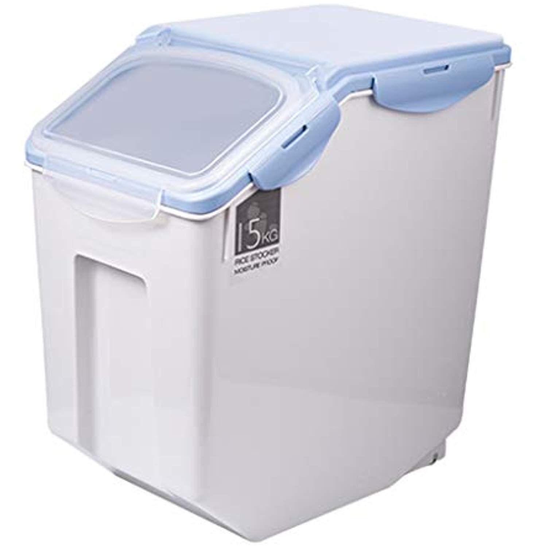 Jlxl Pet Food Container 10l Dry Storage Dog Cat Grain Bin Seal