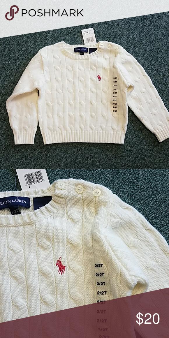 Polo Ralph Lauren Girls Sweater Size 2t Hp Nwt My Posh Picks