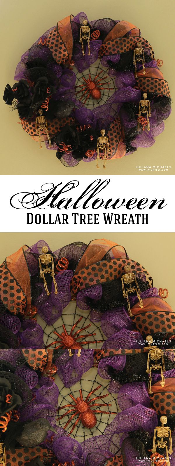 Dollar Tree Halloween Wreath Dollar tree halloween