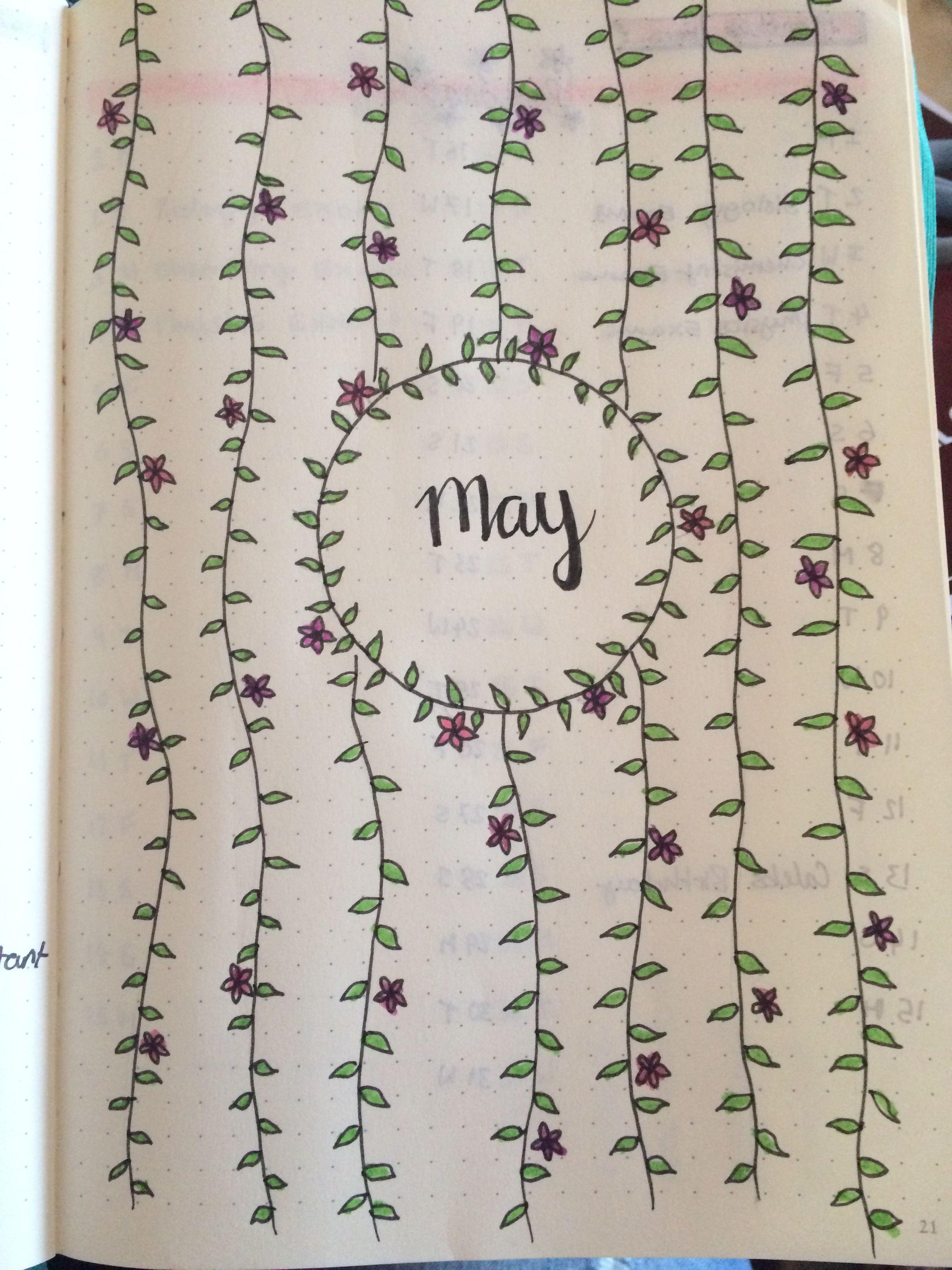 May bullet journal | Bujo | Bullet Journal, May bullet ...
