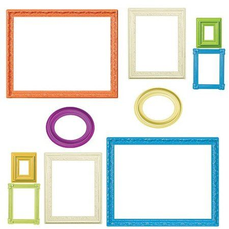 Amazon Com Wallies Peel And Stick Wall Art Colorful Frames These Would Be A Great Way To Frame Kids Artw Artwork Display Wall Frames On Wall Stick Wall Art