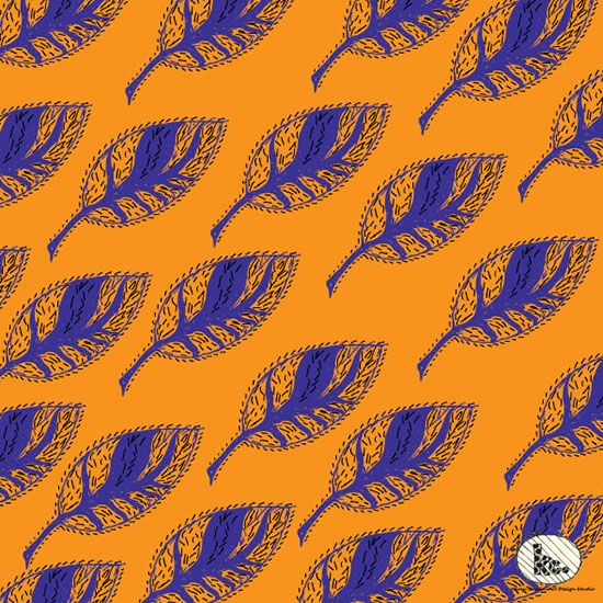 Karen Curtin | Leaf | Module 1 Designing Your Way | September 2015 class | The Art and Business of Surface Pattern Design | Make it in Design