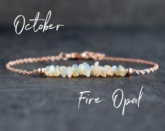 Opal Bracelet Silver or Gold   Raw Opal Bracelet  Raw Opal | Etsy