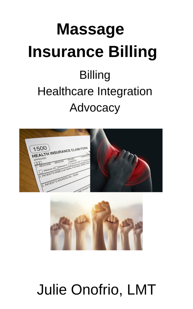 2019 Edition Massage Insurance Manual Healthcare Integration