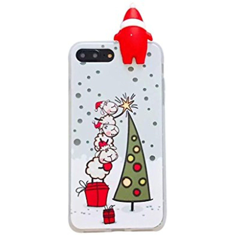 IPhone 8 / 7 Plus Case , Transer Christmas Slim Soft TPU Protective ...