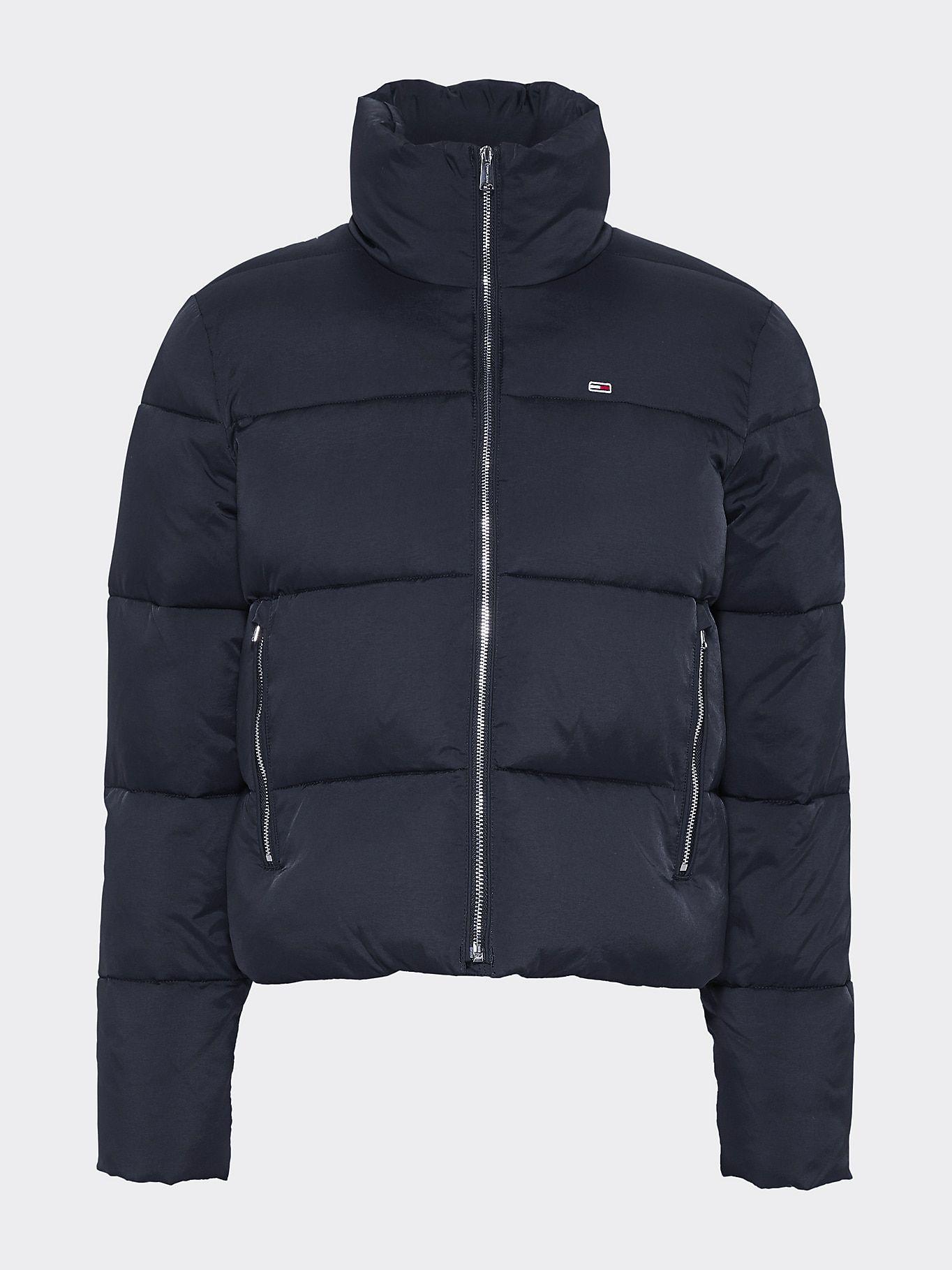 Zip Thru Puffer Jacket   TOMMY BLACK   Tommy Hilfiger