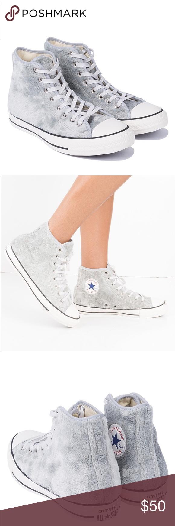 Converse NWOT Fuzzy High Top Sneaker