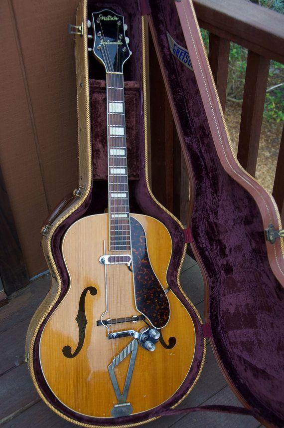 1953 gretsch syncromatic guitar dearmond rhythm chief pickup original gretsch tweed case great. Black Bedroom Furniture Sets. Home Design Ideas