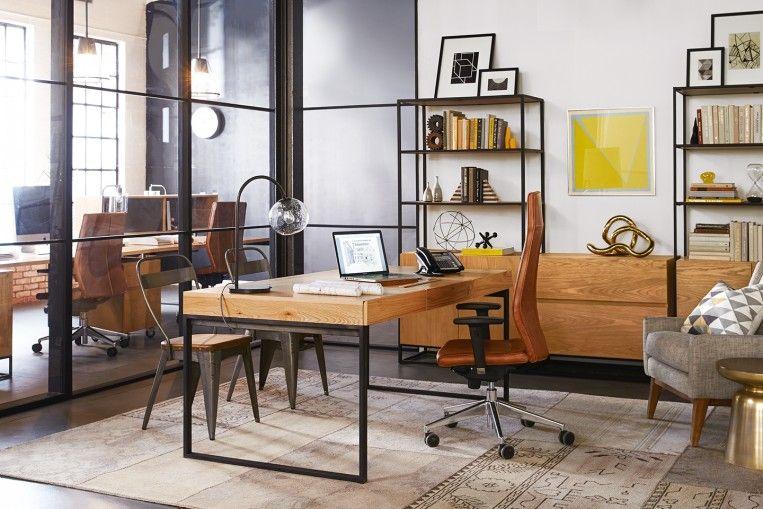 Office Design Industrial Executive Desk West Elm