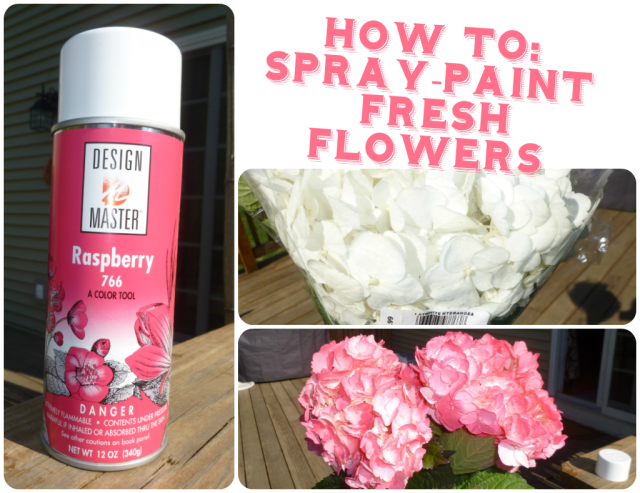 How To Spray Paint Fresh Flowers Wedding Diy Hydrangea Design Master