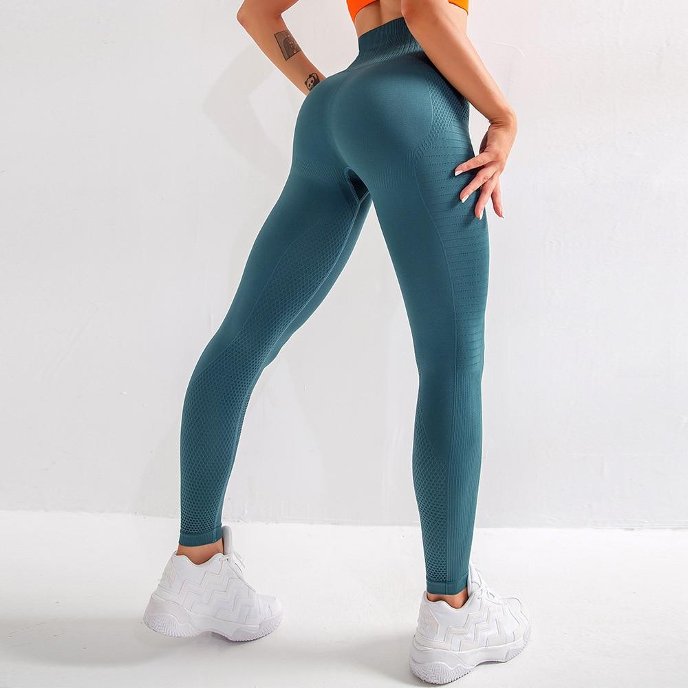 Women Ladies High Waist Yoga Leggings Seamless Sports Gym Pants Fitness Trousers