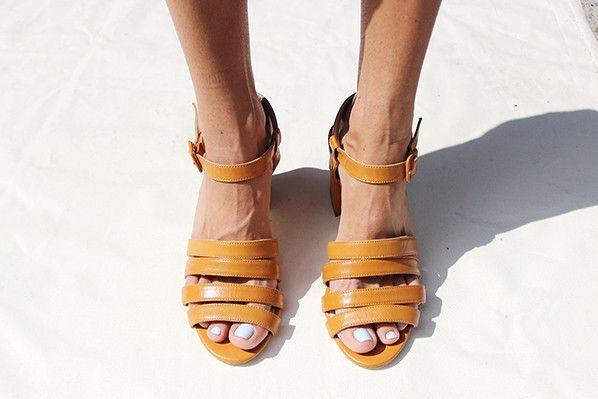 PALMA HIGH HEEL SANDAL, WHISKEY CALF   Travel shoes, Sandals