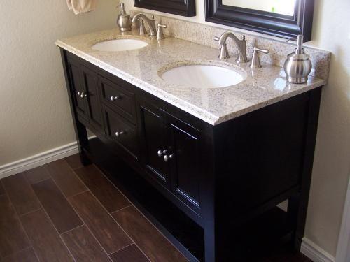 Home Decorators Collection Gazette 61 In W X 22 In D Double Bath Vanity In Espresso With Granite Vanity Top In Beige Gaea6022dbt2 The Home Depot Granite Vanity Tops Vanity Vanity Top