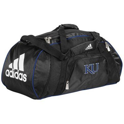 07bcfe08 adidas Kansas Jayhawks Black Team Logo Gym Duffel Bag | Sports FAN ...