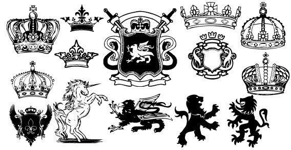 Unicorn Lion Heraldic Coat Of Arms Vector