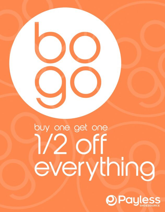 My Redesign Of Payless Shoesource Bogo Buy One Get One Half Off